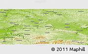 Physical Panoramic Map of Targoviste