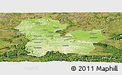Physical Panoramic Map of Targoviste, satellite outside