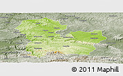 Physical Panoramic Map of Targoviste, semi-desaturated