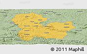 Savanna Style Panoramic Map of Targoviste