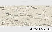 Shaded Relief Panoramic Map of Targoviste