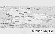 Silver Style Panoramic Map of Targoviste