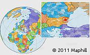 Political Location Map of Varna