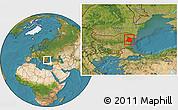Satellite Location Map of Varna