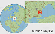 Savanna Style Location Map of Varna