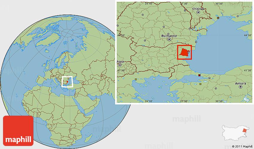 Savanna Style Location Map Of Varna - Varna map