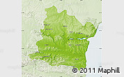 Physical Map of Varna, lighten