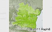 Physical Map of Varna, semi-desaturated