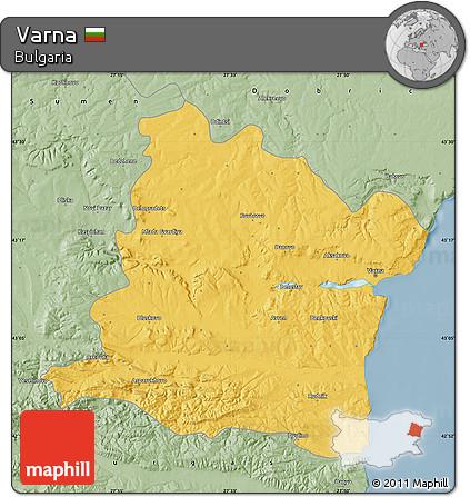 Free Savanna Style Map Of Varna - Varna map