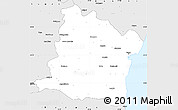Silver Style Simple Map of Varna