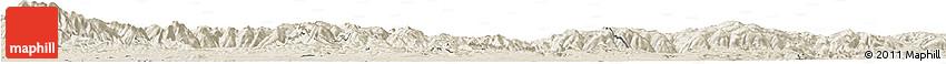 Shaded Relief Horizon Map of Veliko Tarnovo
