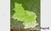 Physical Map of Veliko Tarnovo, darken