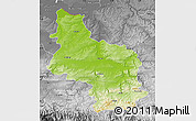 Physical Map of Veliko Tarnovo, desaturated
