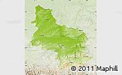 Physical Map of Veliko Tarnovo, lighten