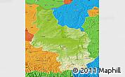 Physical Map of Veliko Tarnovo, political outside