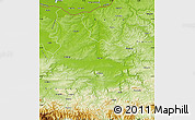 Physical Map of Veliko Tarnovo
