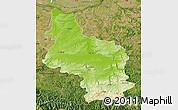 Physical Map of Veliko Tarnovo, satellite outside