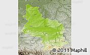 Physical Map of Veliko Tarnovo, semi-desaturated