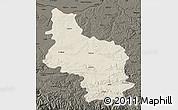 Shaded Relief Map of Veliko Tarnovo, darken