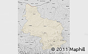 Shaded Relief Map of Veliko Tarnovo, desaturated