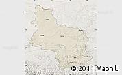 Shaded Relief Map of Veliko Tarnovo, lighten