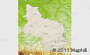 Shaded Relief Map of Veliko Tarnovo, physical outside