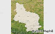 Shaded Relief Map of Veliko Tarnovo, satellite outside
