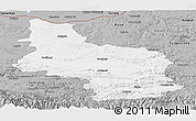 Gray Panoramic Map of Veliko Tarnovo
