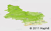 Physical Panoramic Map of Veliko Tarnovo, cropped outside