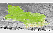 Physical Panoramic Map of Veliko Tarnovo, desaturated