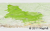 Physical Panoramic Map of Veliko Tarnovo, lighten