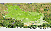 Physical Panoramic Map of Veliko Tarnovo, satellite outside