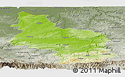 Physical Panoramic Map of Veliko Tarnovo, semi-desaturated