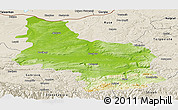 Physical Panoramic Map of Veliko Tarnovo, shaded relief outside