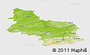 Physical Panoramic Map of Veliko Tarnovo, single color outside