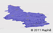Political Panoramic Map of Veliko Tarnovo, cropped outside