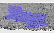 Political Panoramic Map of Veliko Tarnovo, desaturated