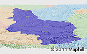 Political Panoramic Map of Veliko Tarnovo, lighten