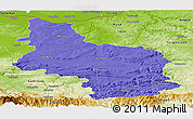 Political Panoramic Map of Veliko Tarnovo, physical outside