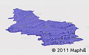 Political Panoramic Map of Veliko Tarnovo, single color outside
