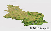 Satellite Panoramic Map of Veliko Tarnovo, cropped outside