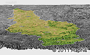 Satellite Panoramic Map of Veliko Tarnovo, desaturated