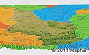 Satellite Panoramic Map of Veliko Tarnovo, political outside