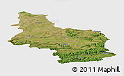 Satellite Panoramic Map of Veliko Tarnovo, single color outside