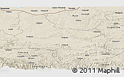Shaded Relief Panoramic Map of Veliko Tarnovo