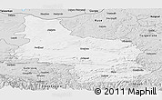 Silver Style Panoramic Map of Veliko Tarnovo