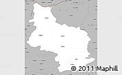 Gray Simple Map of Veliko Tarnovo