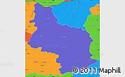 Political Simple Map of Veliko Tarnovo