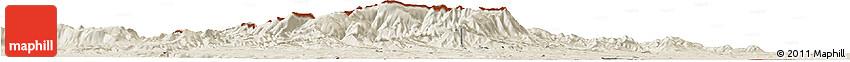 Shaded Relief Horizon Map of Vidin