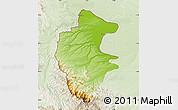 Physical Map of Vidin, lighten